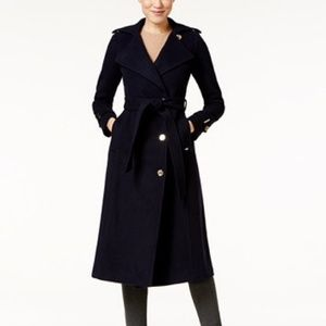 Michael Kors Maxi trench coat in navy blue